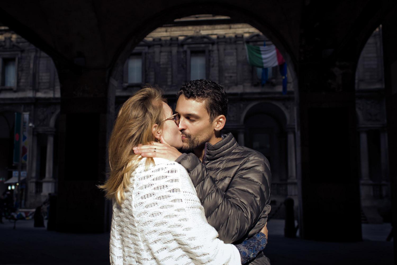 Love destination engagement Milan