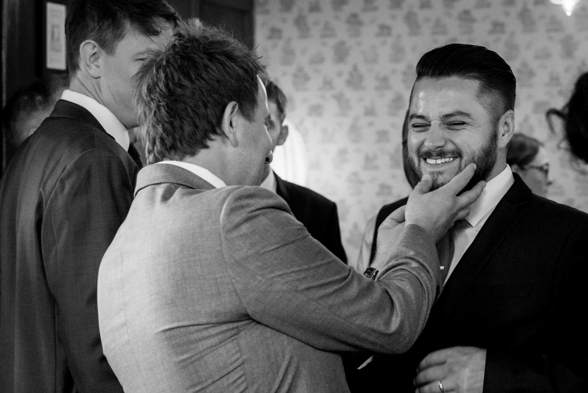 people having fun at pub wedding