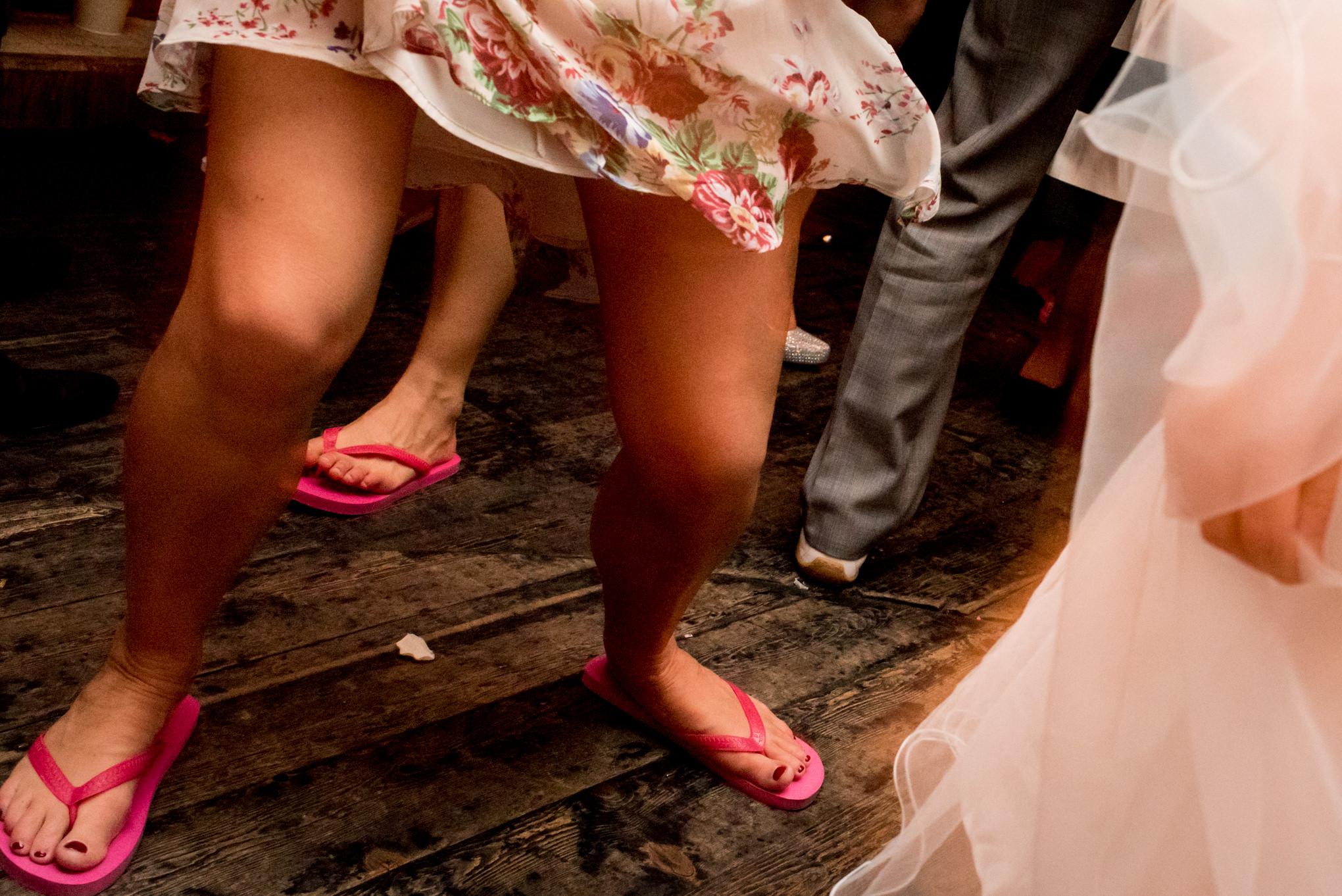 havaianas em casamento