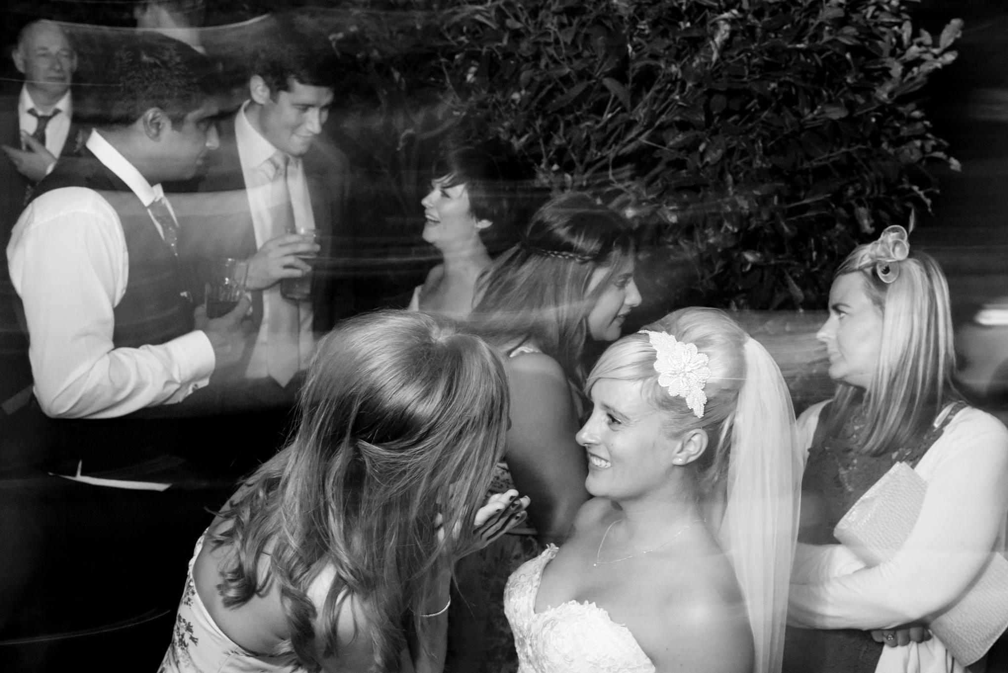 guests dancing in wedding