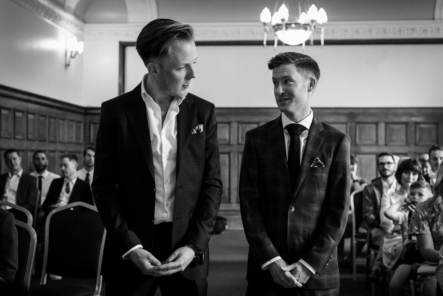 same sex wedding at islington town hall, Carine Bea Photography