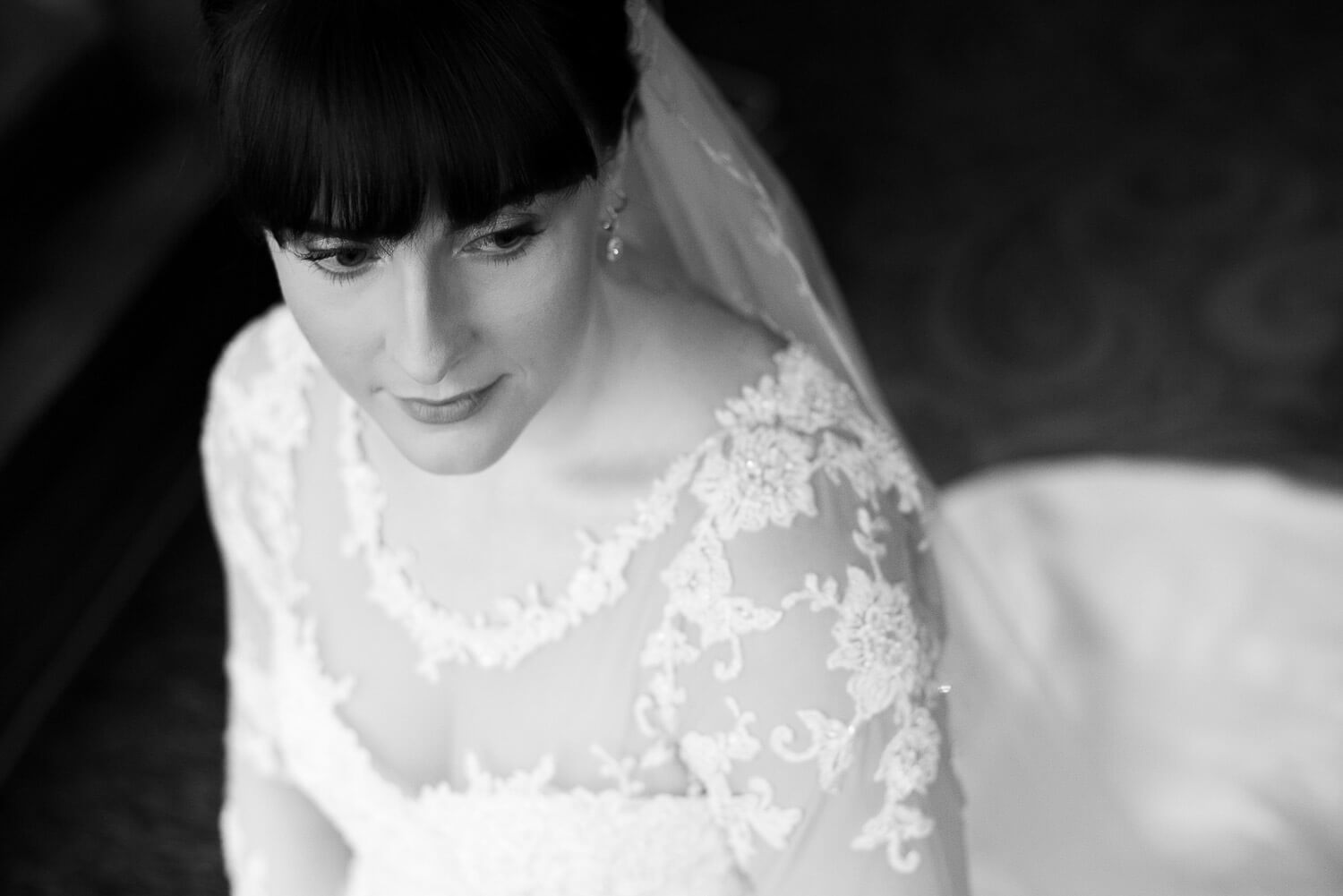 Fanhams Hall Wedding bride portrait