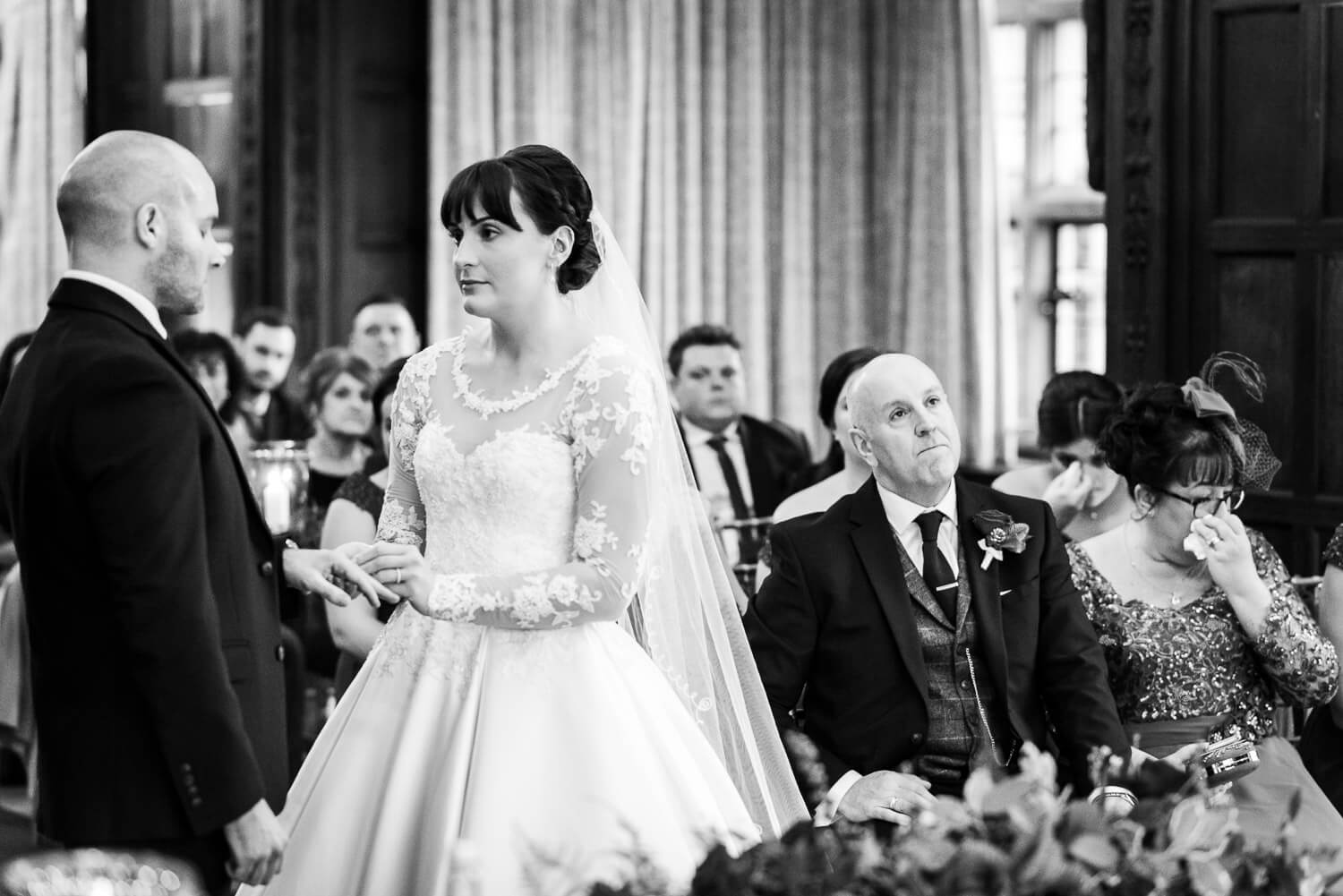 Fanhams Hall Wedding emotions