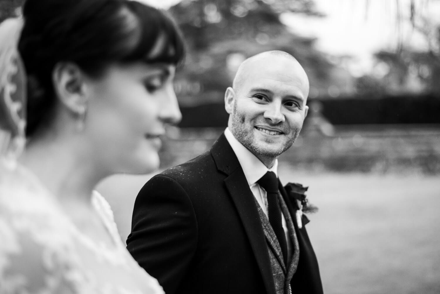 Fanhams Hall Wedding couple portrait