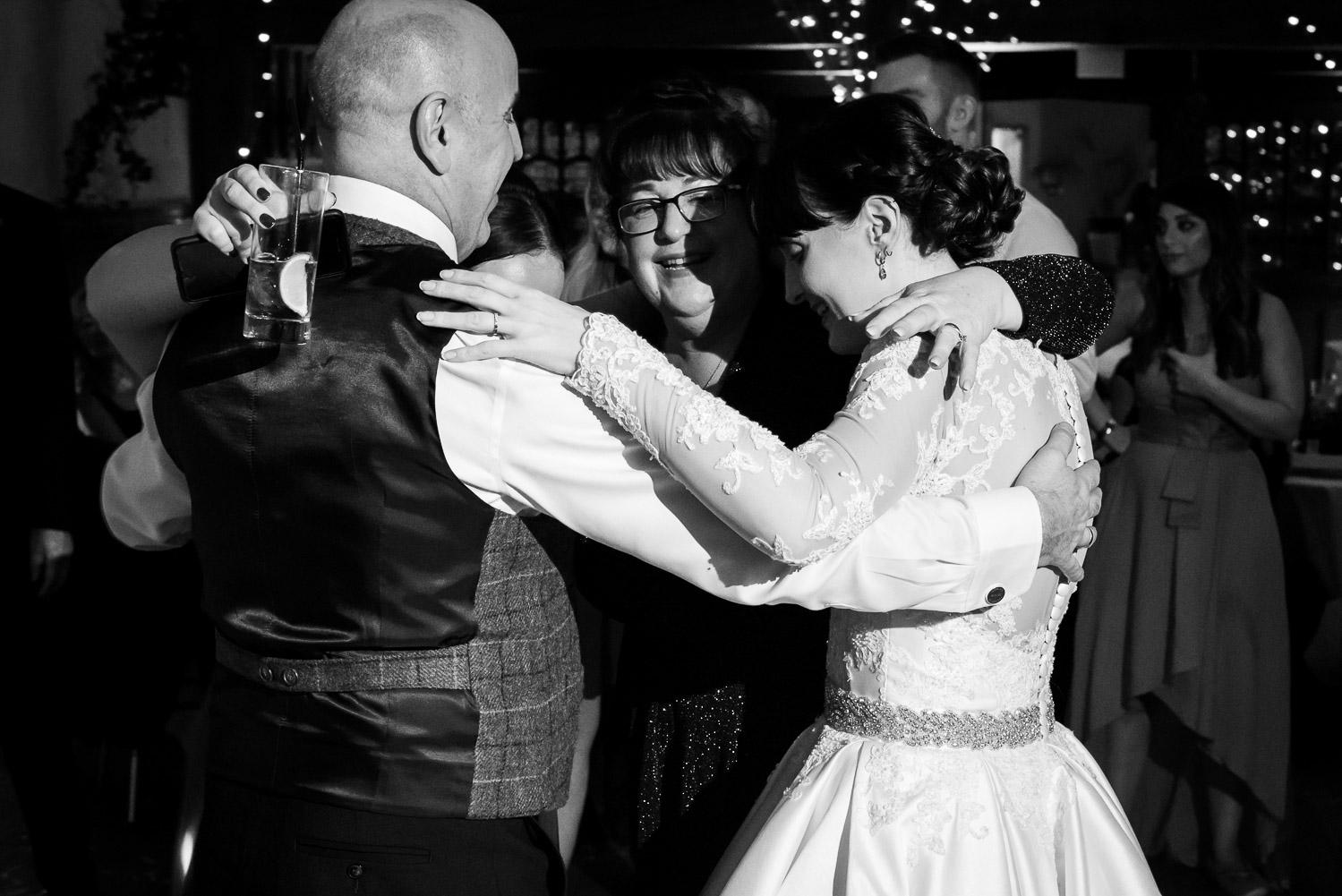 Fanhams Hall Wedding family dancing, Carine Bea Photography