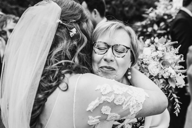 Hugs at weddings