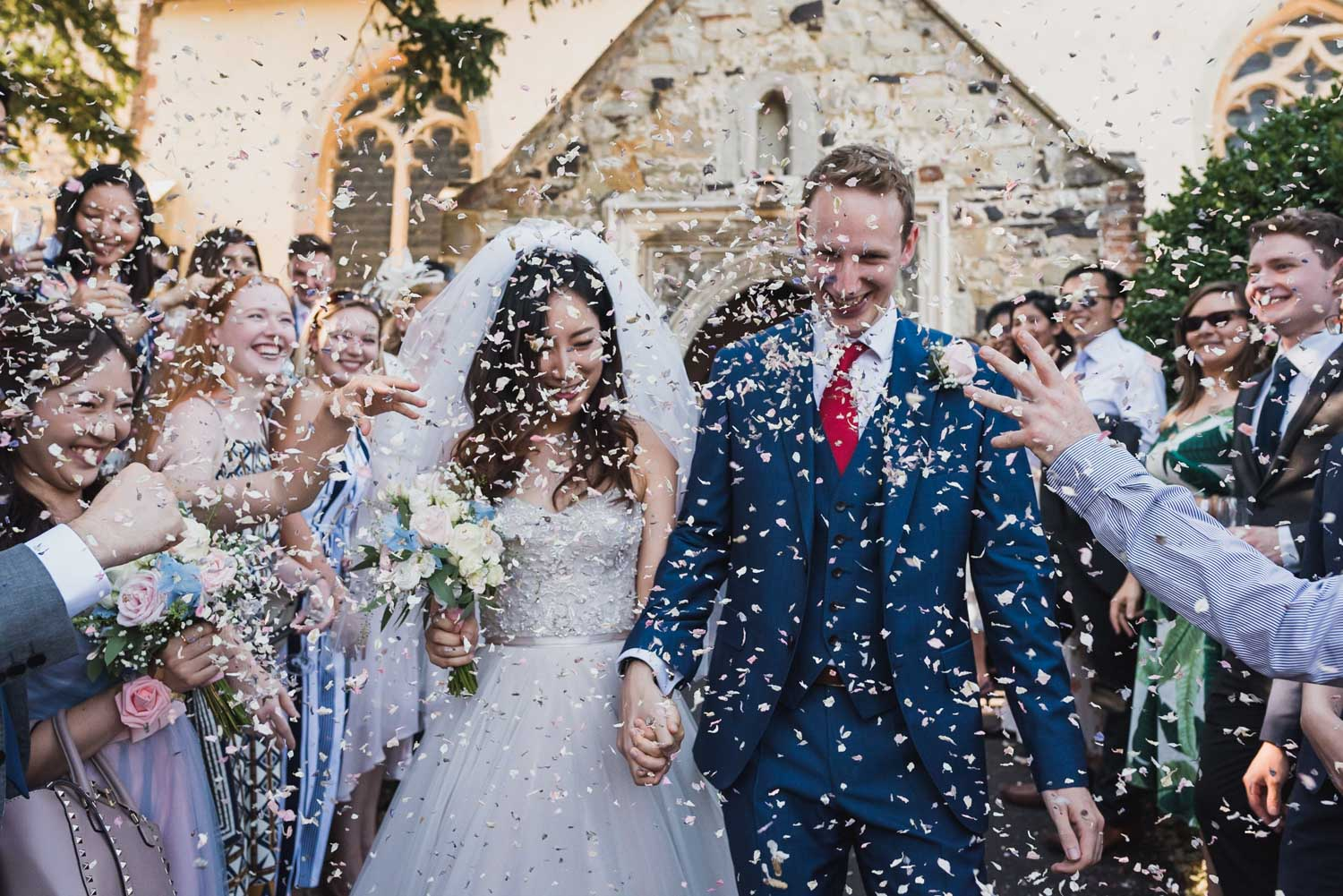 wedding confetti, Carine Bea Photography