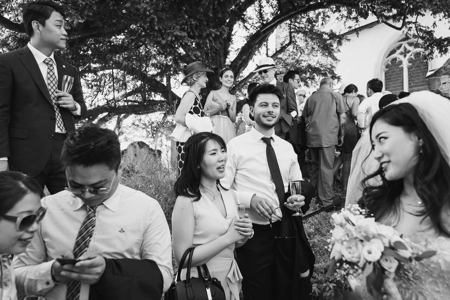 wedding guests having fun, Carine Bea Photography