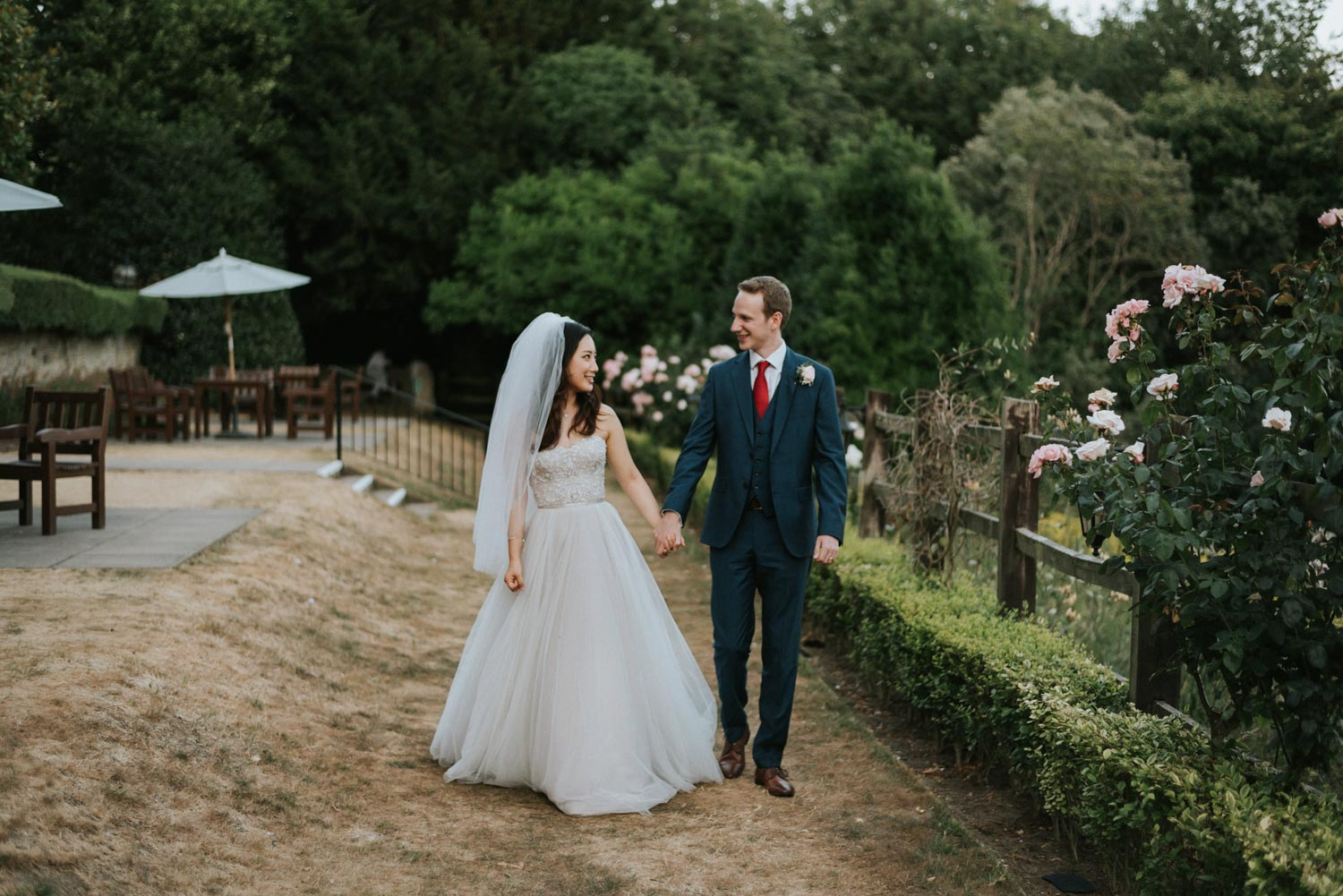 Nutfield Priory Wedding couple portrait, Carine Bea Photography