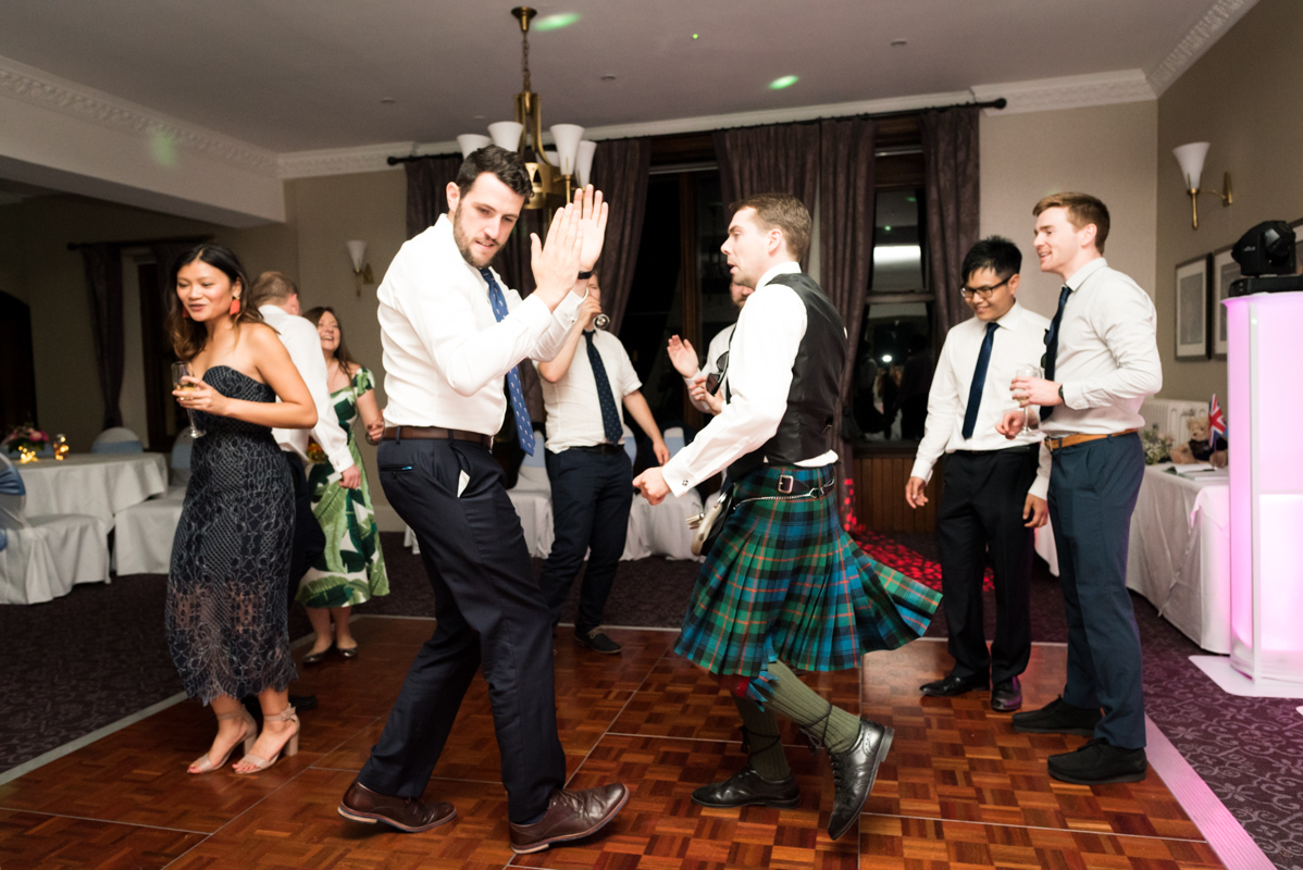 Scottish dance floor at wedding, Carine Bea Photography