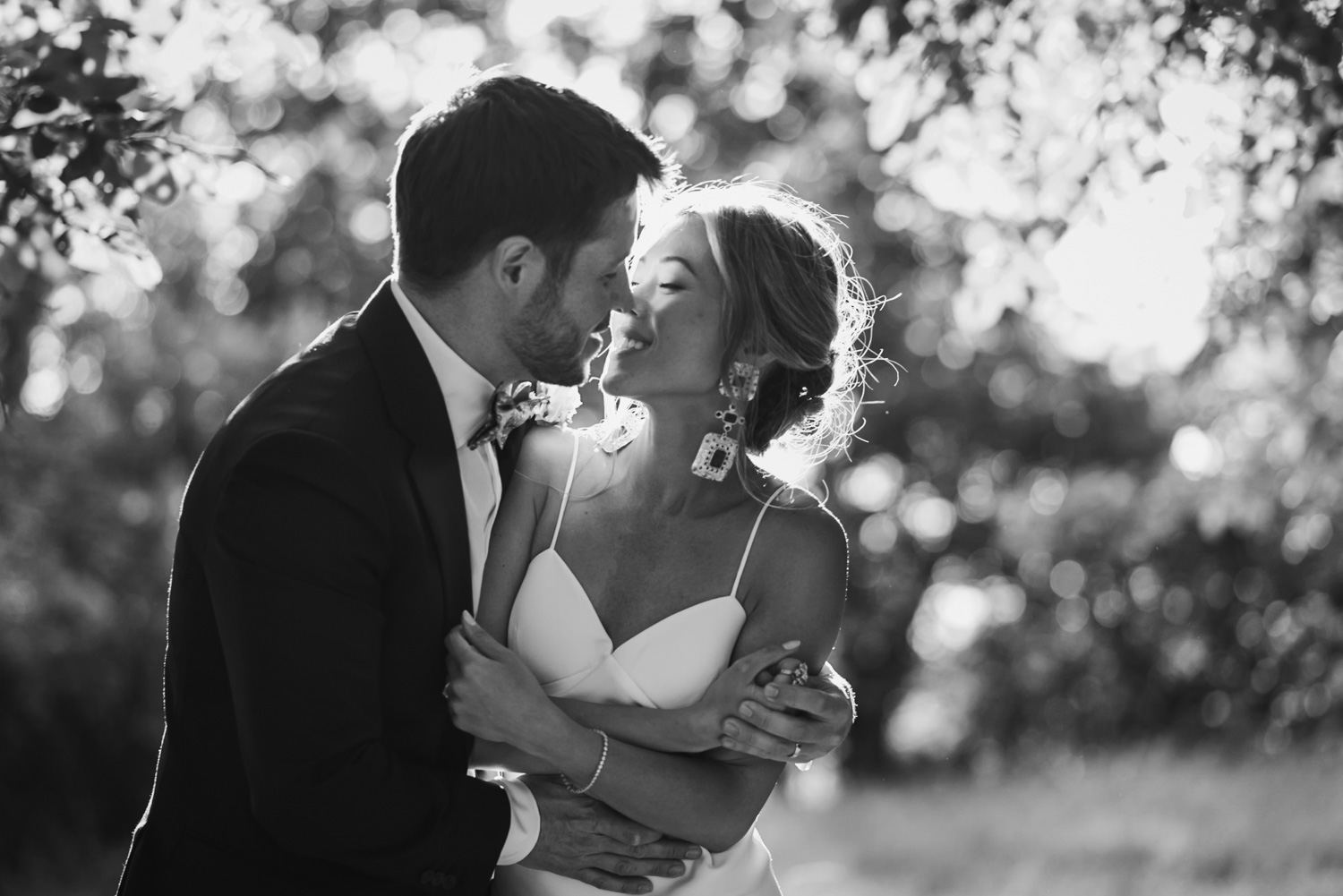 Wedding portrait, Carine Bea Photography, black & white photography