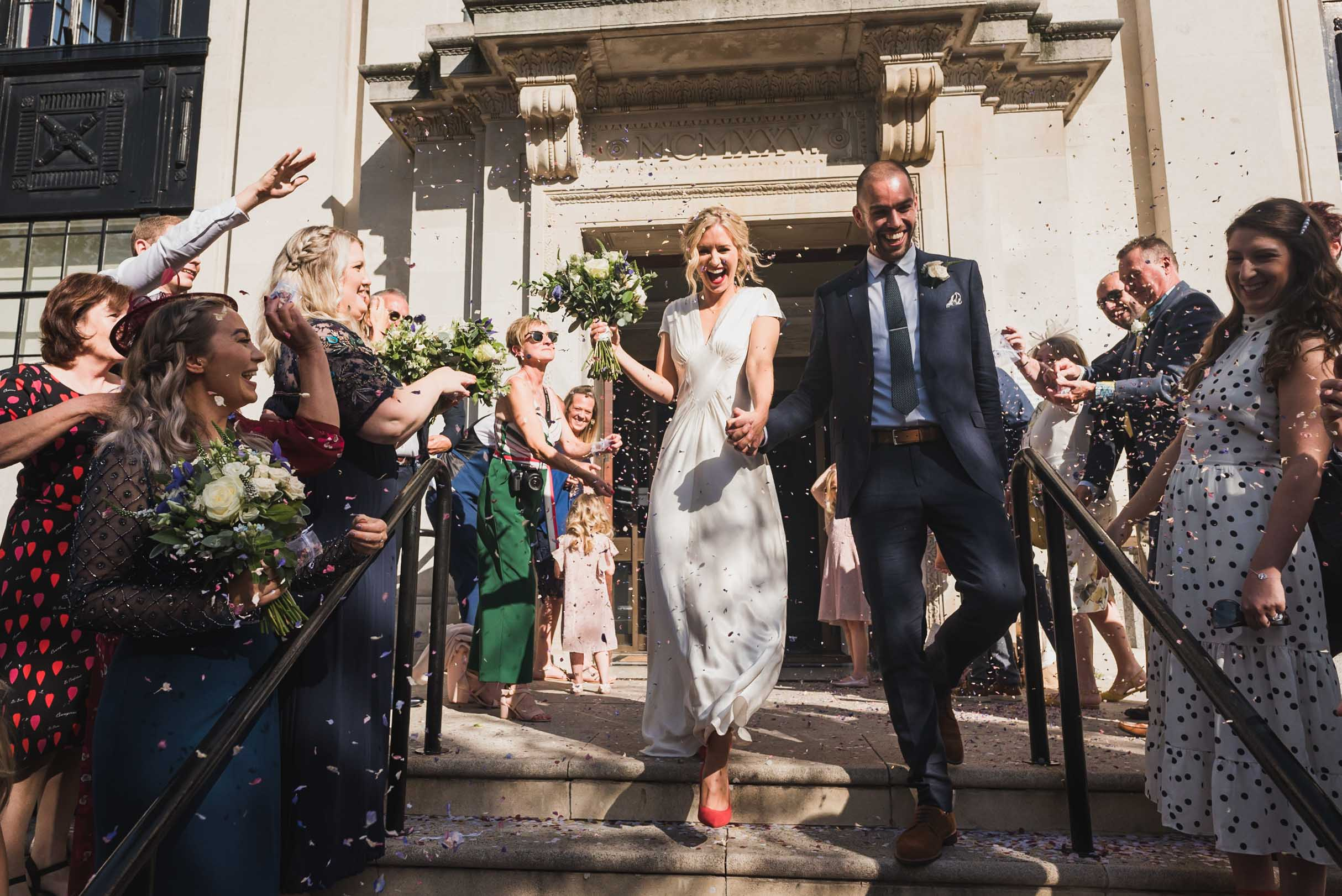 carine bea photography, islington hall wedding, confetti