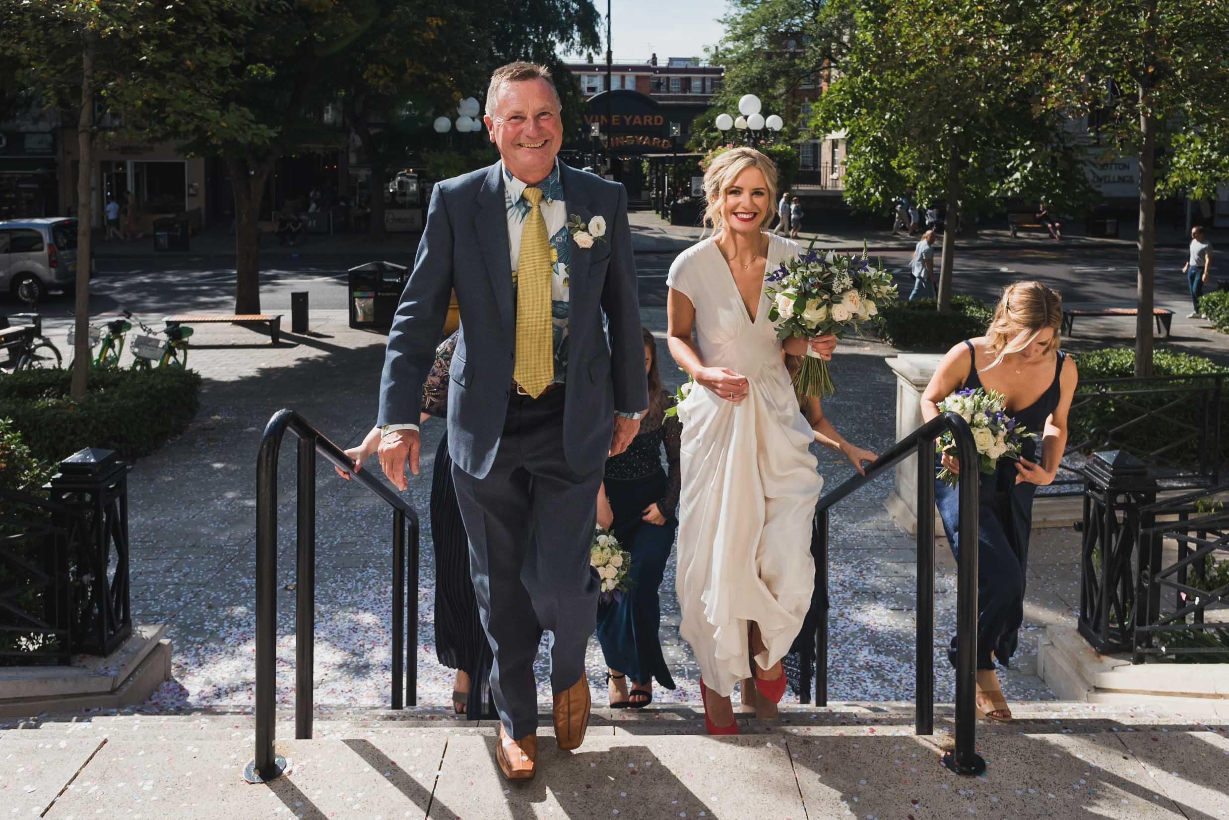 carine bea photography, islington hall wedding, father of the bride