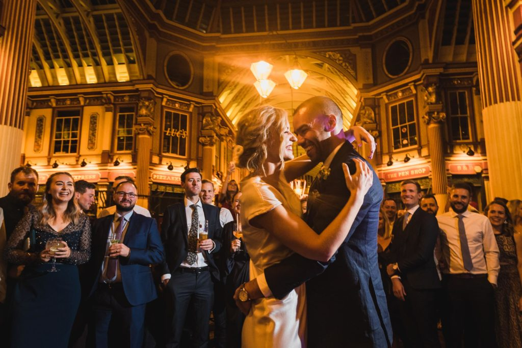 carine bea photography, Lamb tavern Leadenhall Market pub Wedding, first dance