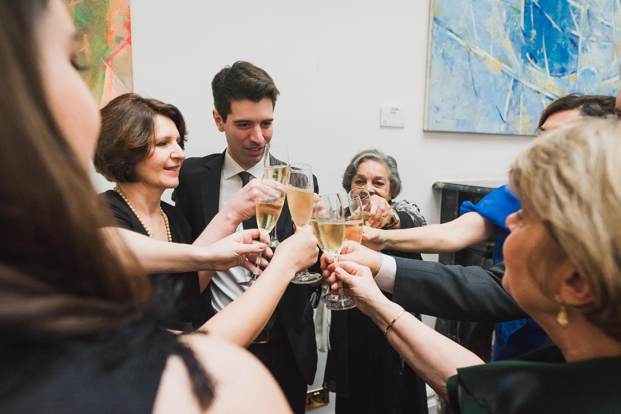 carine bea photography, toast at wedding in carlton house terrace
