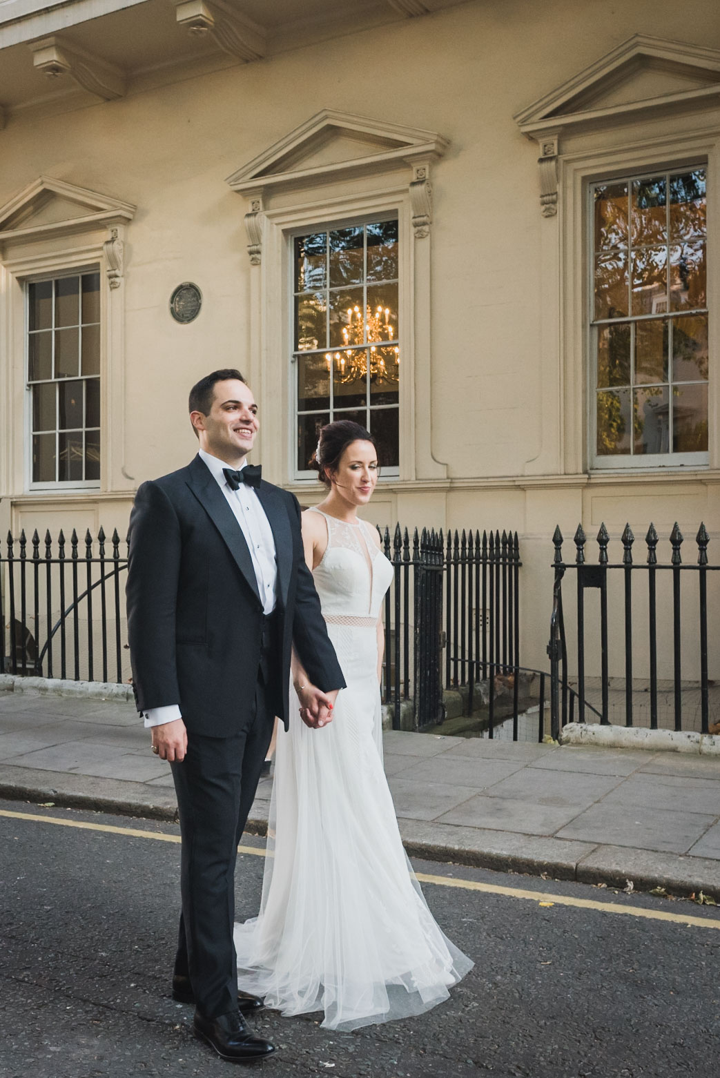 couple portraits wedding Carlton House Terrace London