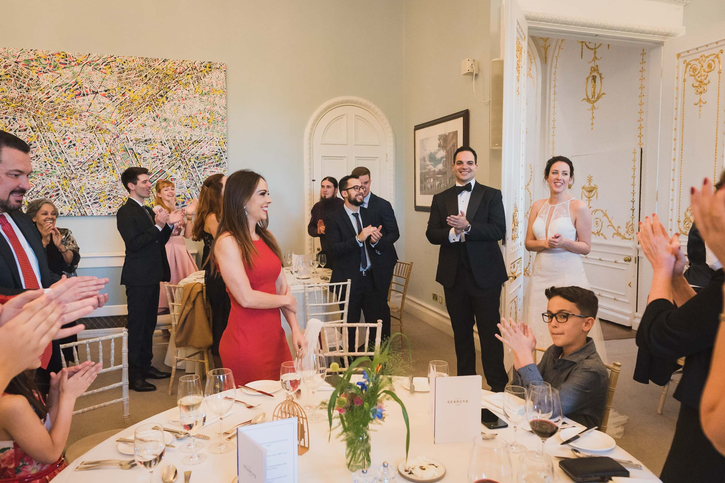 carine bea photography, wedding reception at Carlton House Terrace London