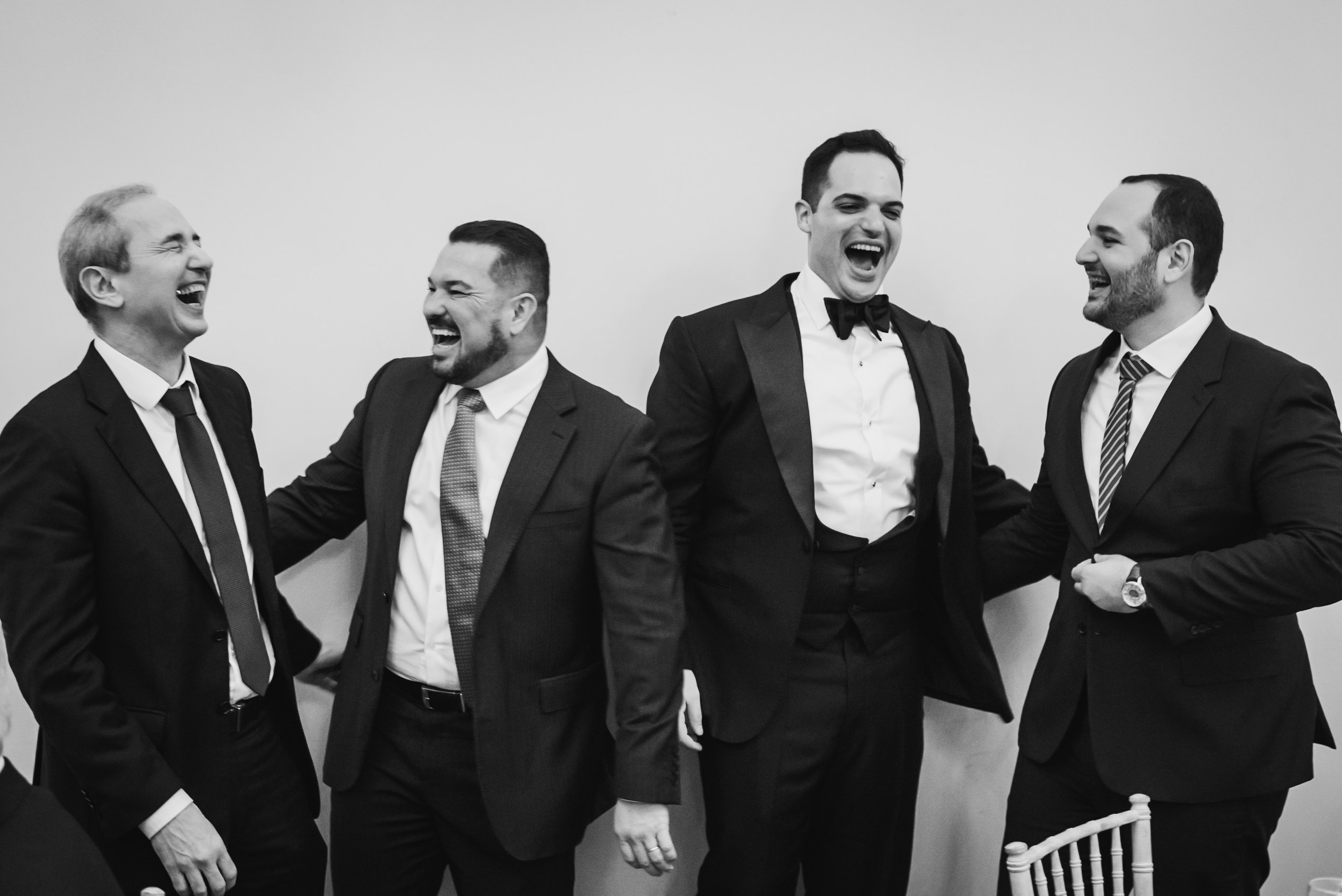 carine bea photography, boys having fun wedding Carlton House Terrace London