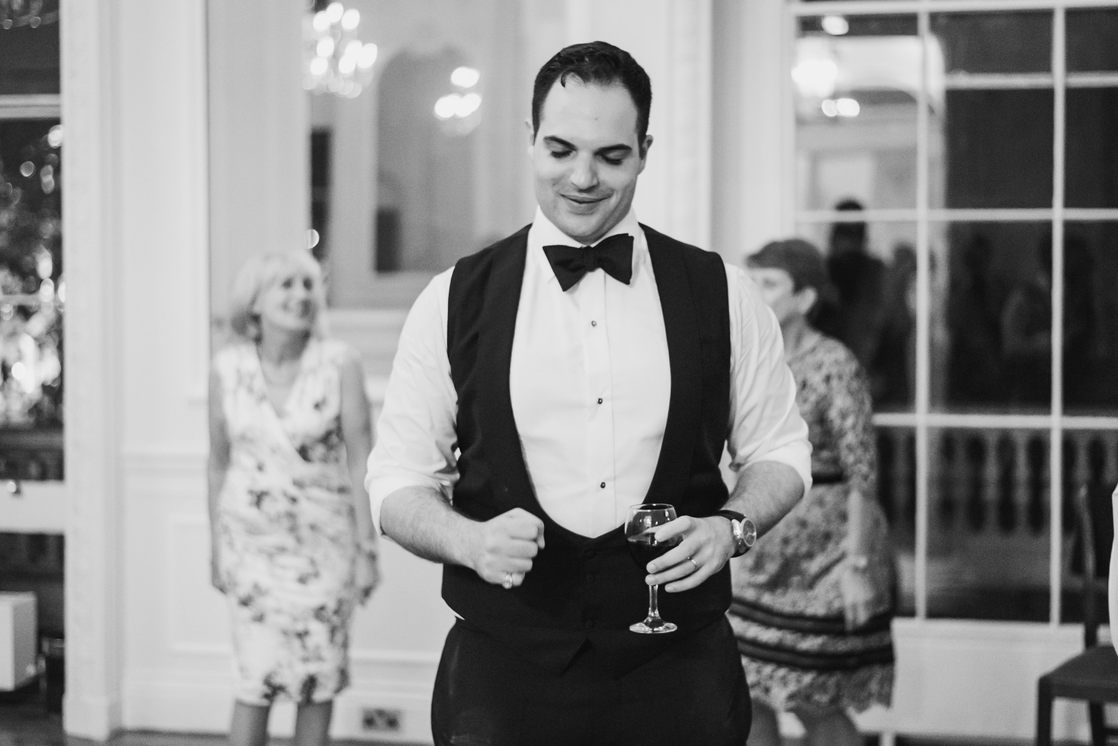 carine bea photography, groom at wedding Carlton House Terrace London