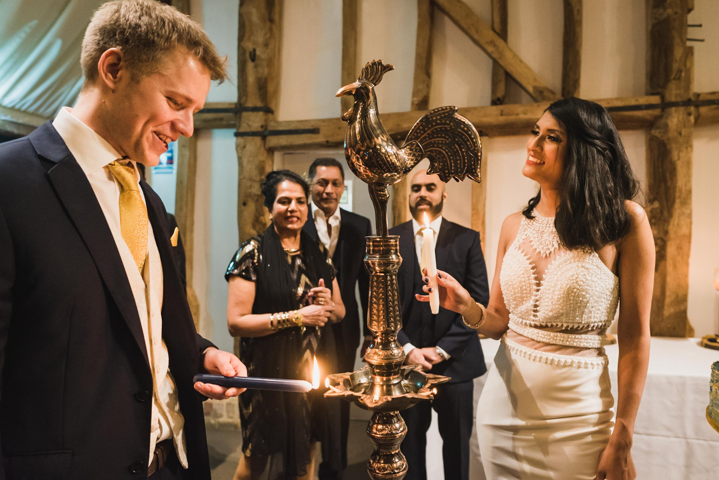 Carine Bea photography, Multicultural wedding, lighting oil lamp Sri Lanka ritual