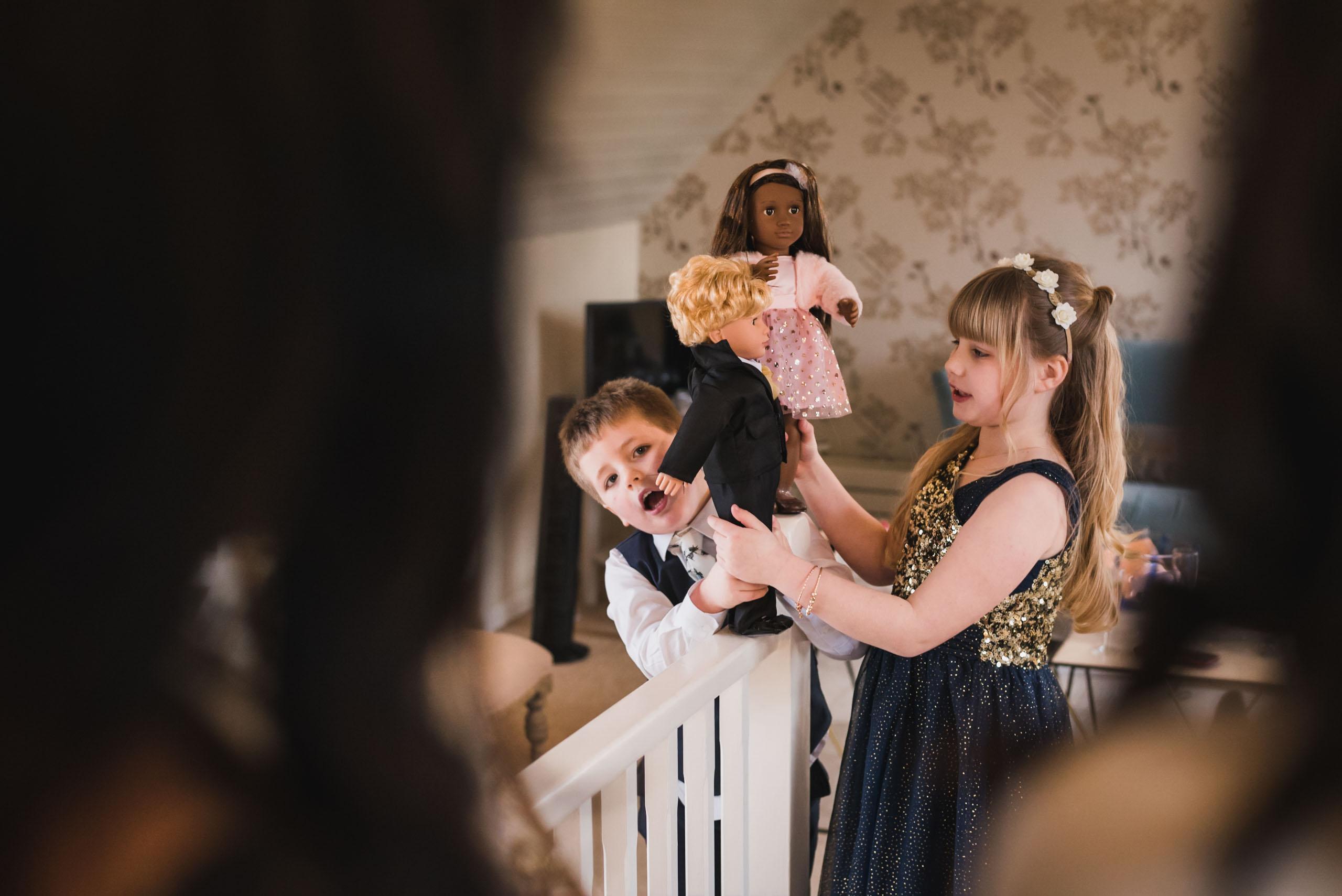 carine bea photography, kids ate wedding