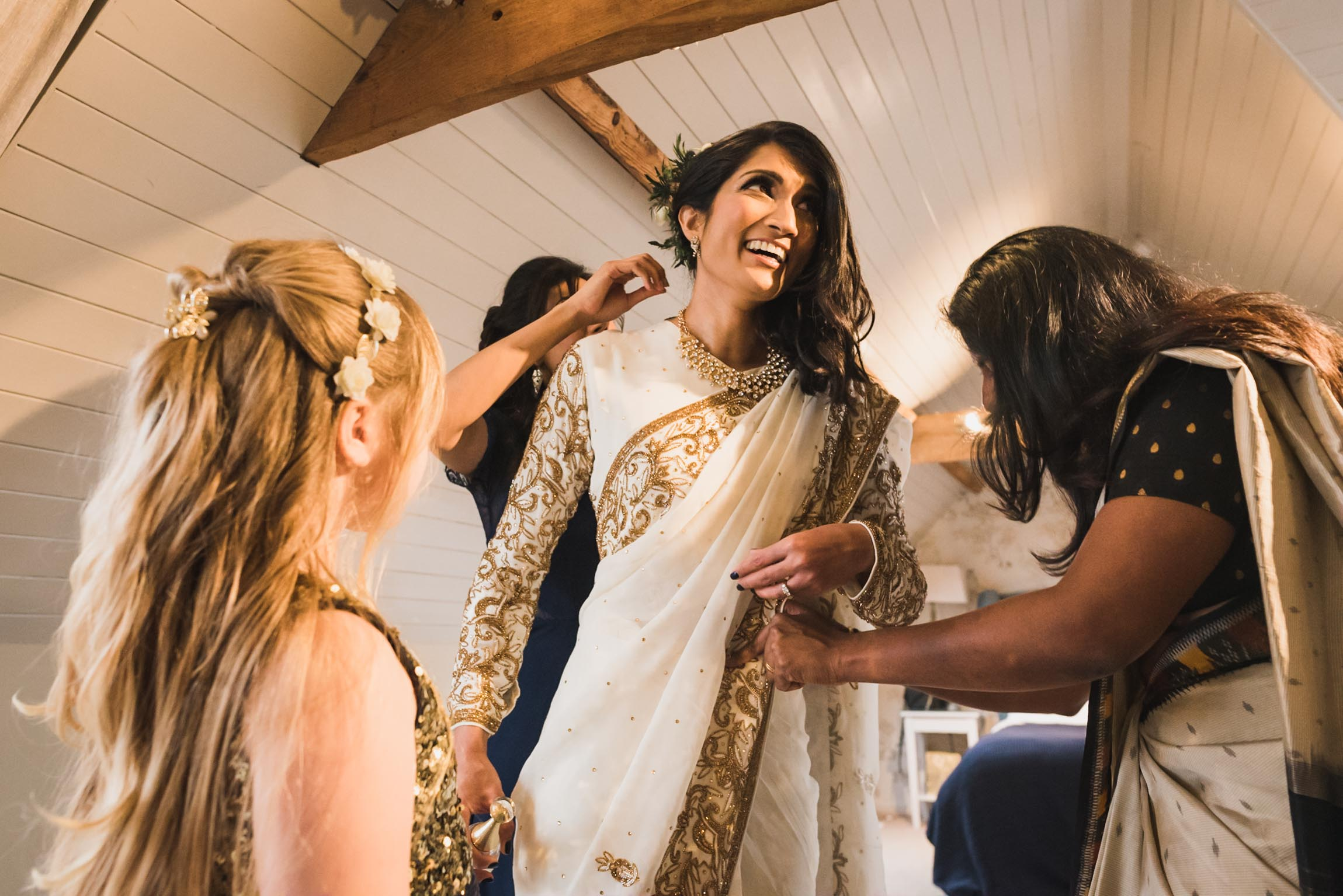 Carine Bea photography , Multicultural wedding, bride getting ready